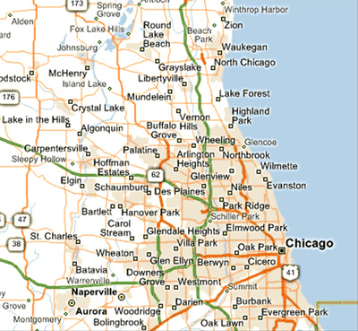 Greater Chicago Area Map